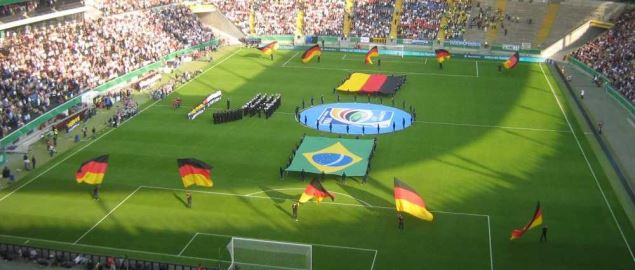 Germany national team vs Brazil, in Frankfurt Germany.