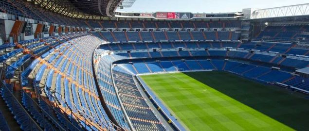 Santiago Bernabeu Stadium, home of the Spain national team.
