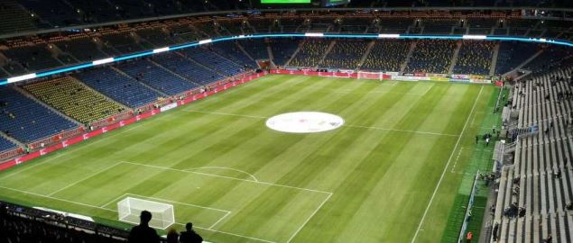 Inside the Friends Arena, home of the Sweden national team.