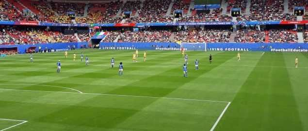 Australia vs Italy in the 2019 Women's World Cup in France